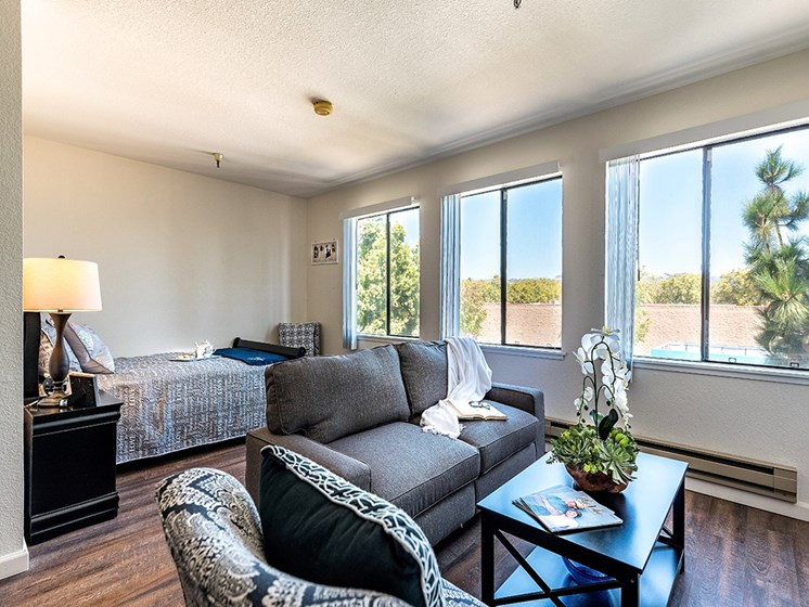 Bedroom With Plenty Of Natural Lights,at Pacifica Senior Living San Leandro, San Leandro