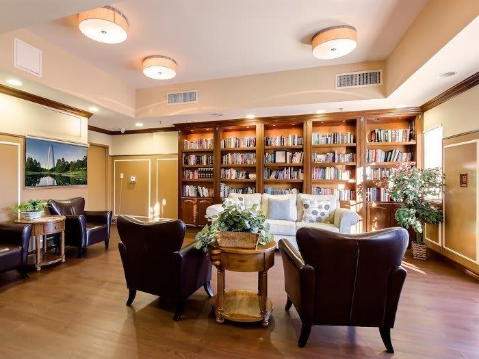 Relax and read a book at Pacifica Senior Living Santa Clarita in Newhall, CA
