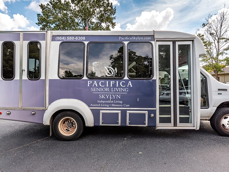 Community Bus at Pacifica Senior Living Skylyn, Spartanburg, SC