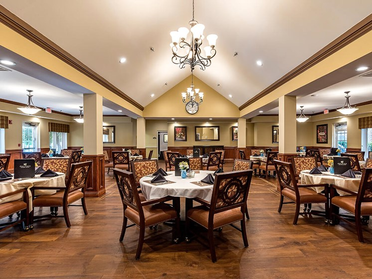 Common Dining Area at Pacifica Senior Living Skylyn, Spartanburg, SC, 29307