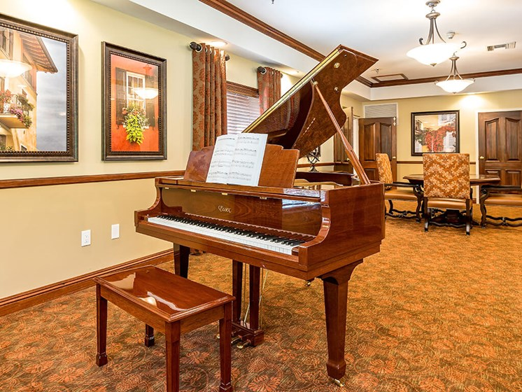 Essex Grand Piano at Pacifica Senior Living Skylyn, Spartanburg