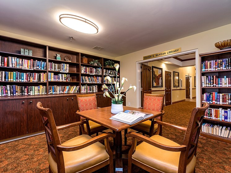 Library at Pacifica Senior Living Skylyn, Spartanburg, SC, 29307
