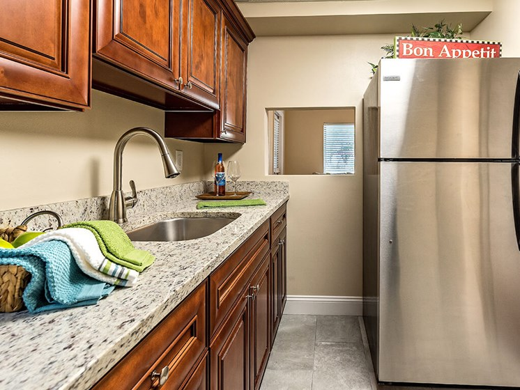 Efficient Appliances In Kitchen at Pacifica Senior Living Skylyn, South Carolina