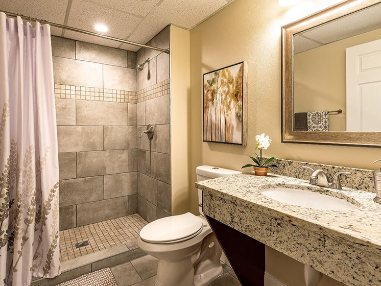 Spacious Bathrooms at Pacifica Senior Living Skylyn, Spartanburg