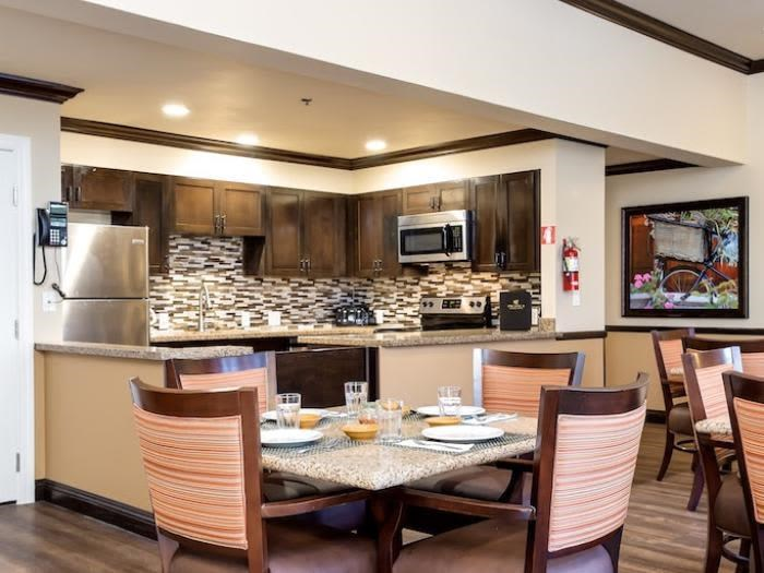 In-suite dining at Pacifica Senior Living Snohomish in Snohomish, Washington