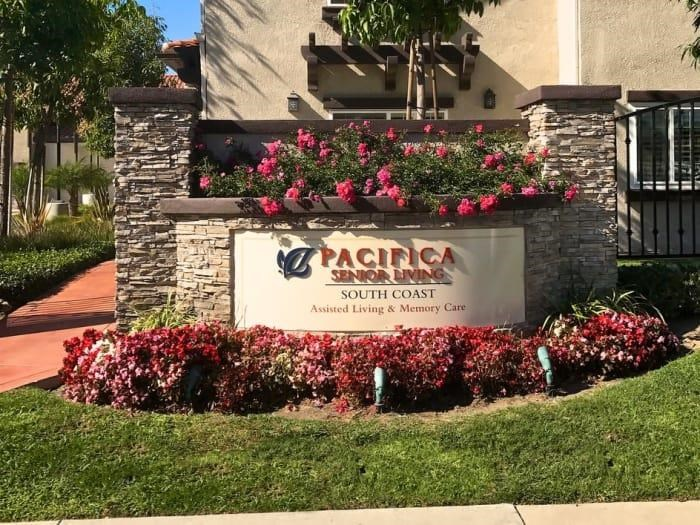 Elegant Sign Board at Pacifica Senior Living South Coast, California, 92627