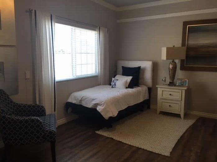 Comfortable Bedroom at Pacifica Senior Living South Coast, Costa Mesa, 92627