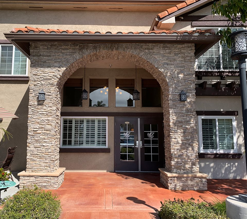 Beautiful Entryway at Pacifica Senior Living South Coast, Costa Mesa, California