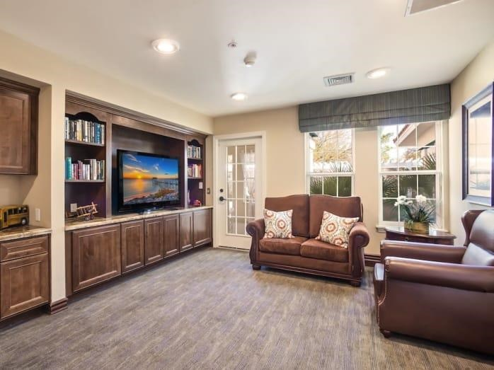 Library for our residents at Pacifica Senior Living Spring Valley