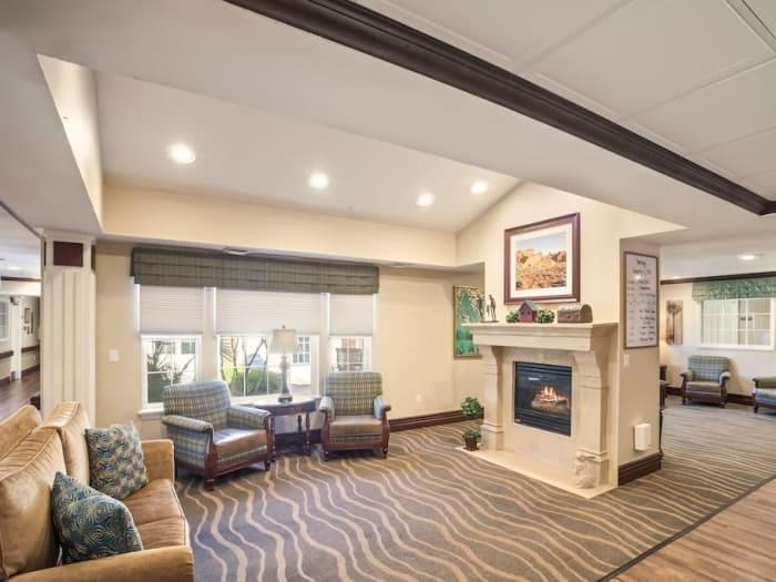 Fireside Lounge at senior living facility in Las Vegas, Nevada