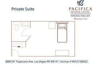 Private Suite Floor Plan at Pacifica Senior Living Spring Valley, Las Vegas, NV