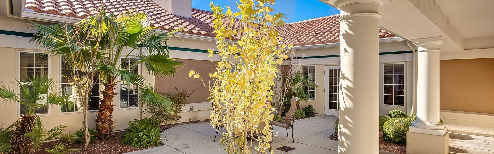 Beautiful Courtyard at Pacifica Senior Living Spring Valley, Las Vegas, 89147