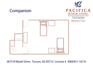 Companion Floor Plan at Pacifica Senior Living Tucson, Arizona