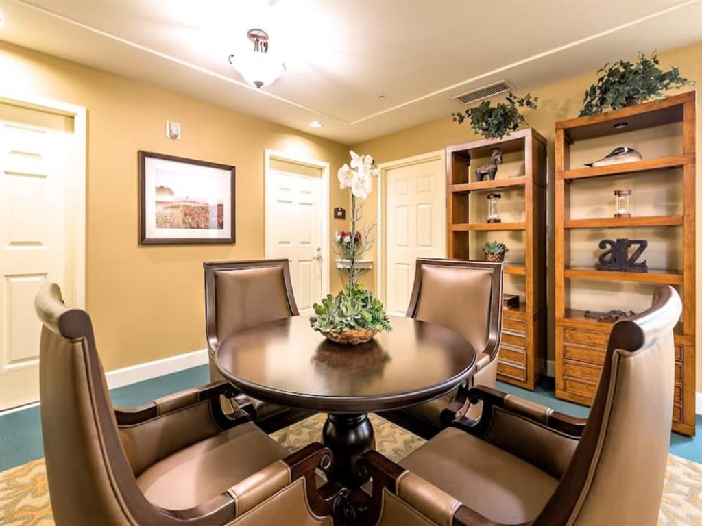 Beautiful dining room at Pacifica Senior Living Union City in Union City, San Francisco Bay Area, California