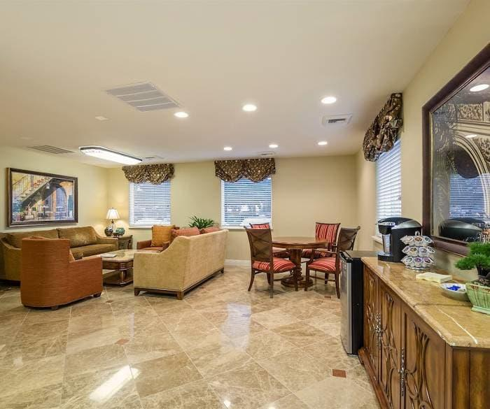 Spacious living room for our senior living residents at Pacifica Senior Living Vacaville in Vacaville, Solano County, California