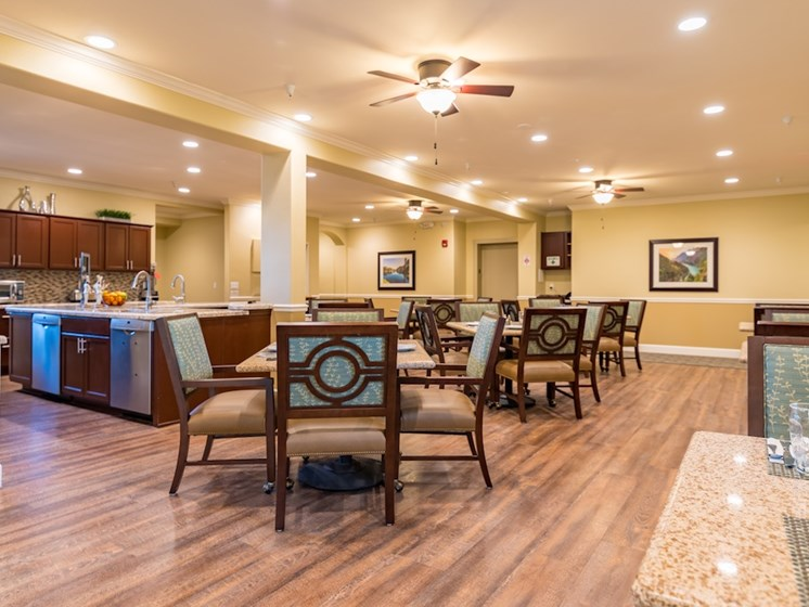 Large Common Dining Area at Pacifica Senior Living Vancouver, Washington, 98684