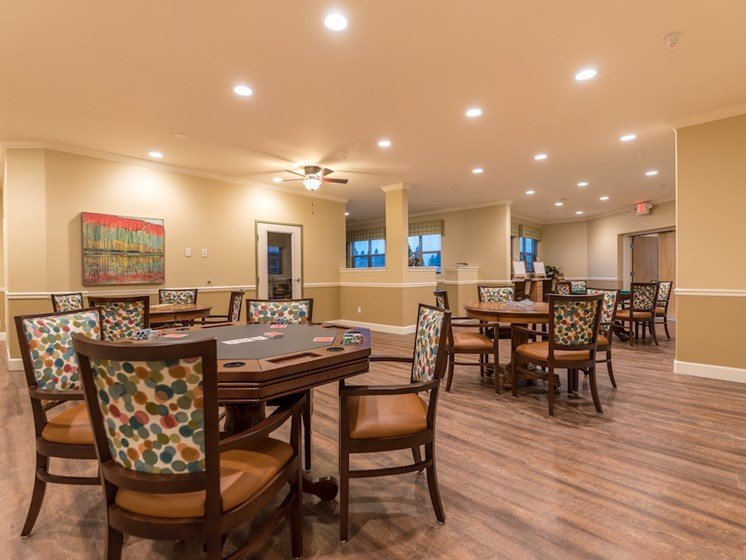 Open Seating in Game Room at Pacifica Senior Living Vancouver, WA