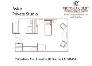 Astor Floor Plan at Pacifica Senior Living Victoria Court, Rhode Island