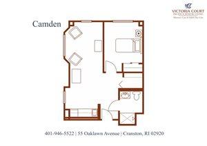 Camden MC Floor Plan at Pacifica Senior Living Victoria Court, Cranston, 02920