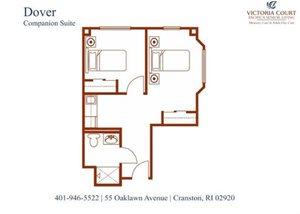 Dover (Companion) AL Floor Plan at Pacifica Senior Living Victoria Court, Cranston