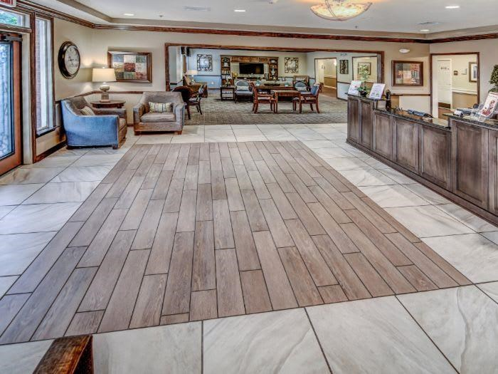 Lobby at Pacifica Senior Living Woodmont