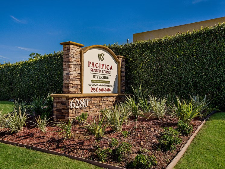 Grand Entrance To Property  at Pacifica Senior Living: Riverside Legacies Memory Care, Riverside
