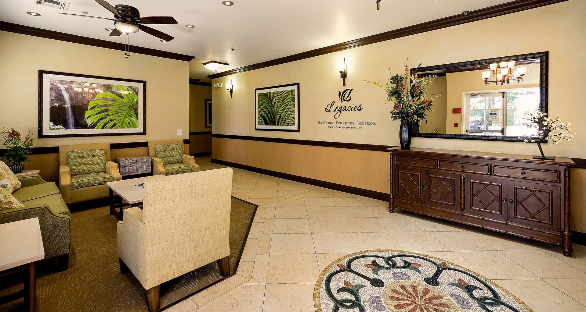 Spacious Lobby Area at Pacifica Senior Living: Riverside Legacies Memory Care, Riverside, California