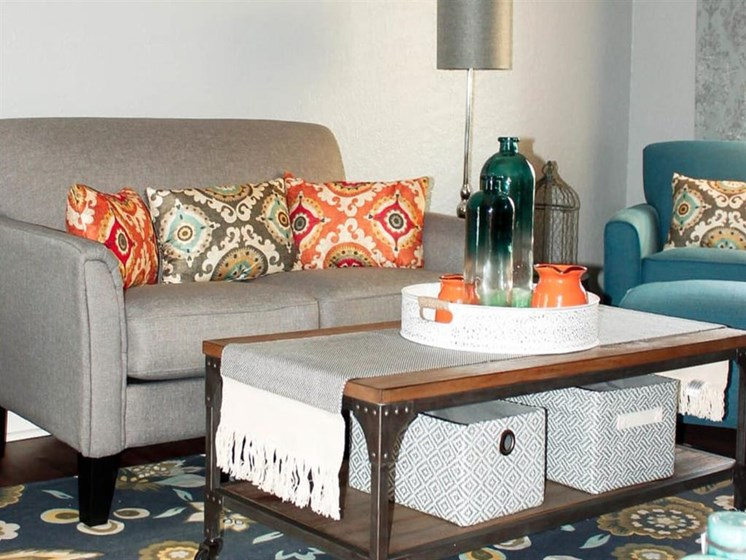 Sophisticated living room area at Scottsdale Village Square, A Pacifica Senior Living Community in Scottsdale, Arizona