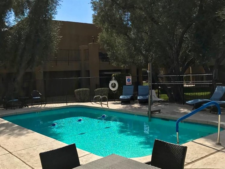 Pools and Patios at Scottsdale Village Square, A Pacifica Senior Living Community in Scottsdale, Arizona