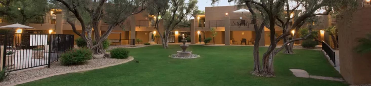 Peaceful Courtyard at Scottsdale Village Square, A Pacifica Senior Living Community in Scottsdale, AZ