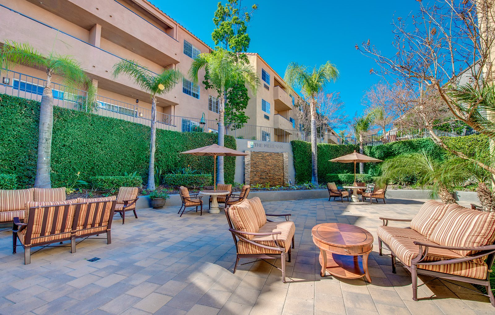 Community Outdoor Lounge with Stunning Views at Meridian at Anaheim Hills, Anaheim Hills, California