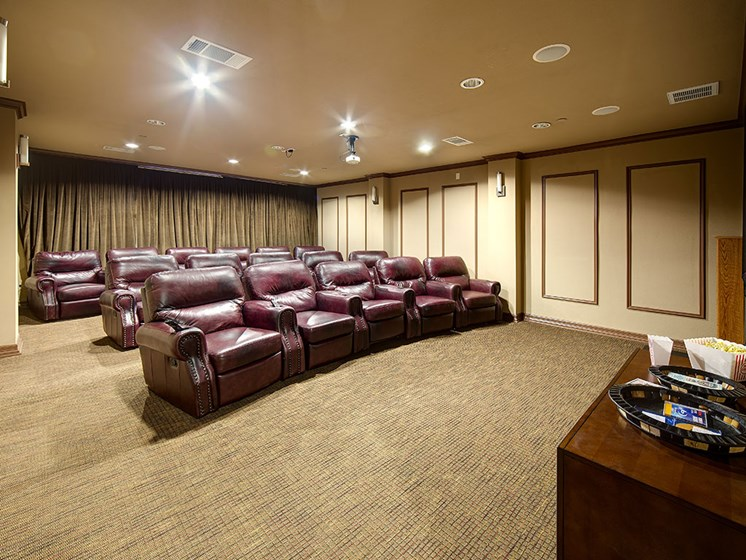 55+ Community Movie Theatre at Meridian at Kessler Park, Texas