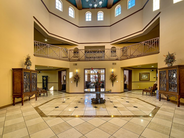 Beautiful Lobby at Meridian at Kessler Park, Texas