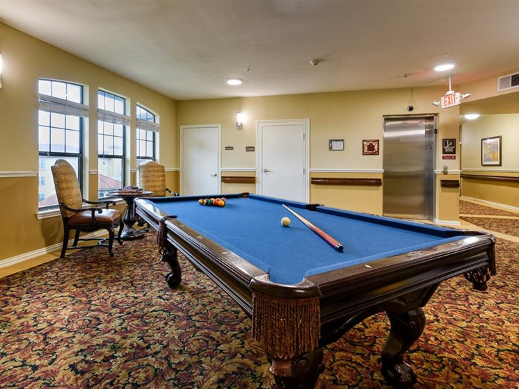 Billiards table in our lounge