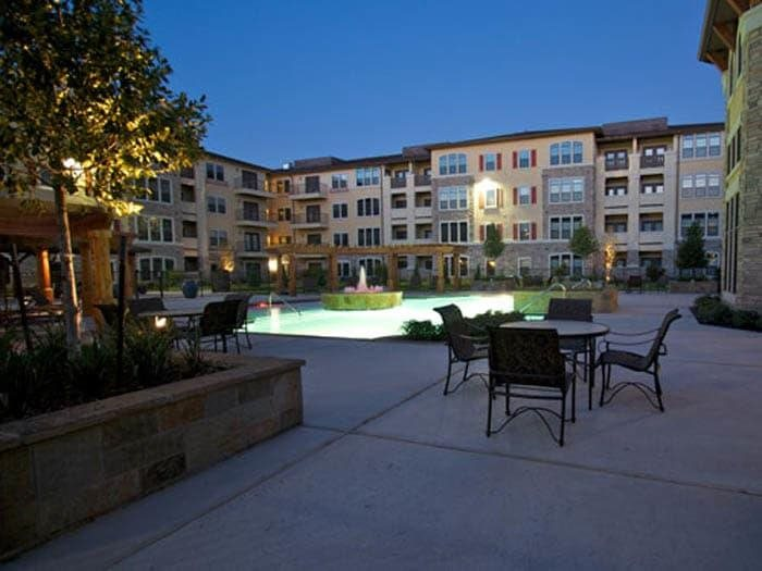 Central Courtyards With Trickling Fountains at Meridian at Kessler Park, Texas
