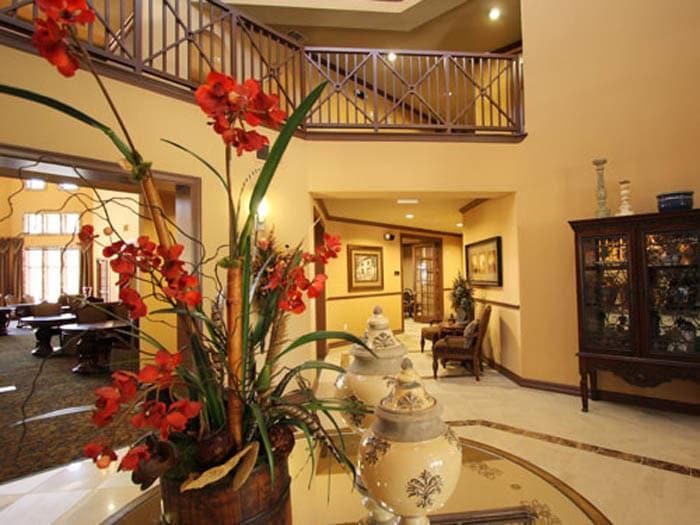 Stunning Decor at Meridian at Kessler Park Dallas lobby