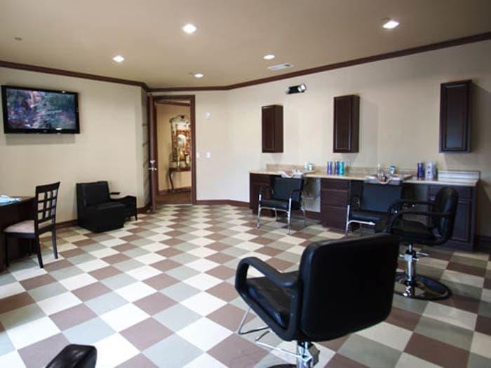 All Inclusive Barbershop for our senior living residents at Meridian at Kessler Park in Dallas, TX