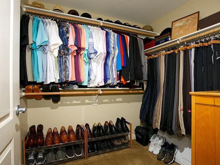 huge closet at The Meridian at Lake San Marcos in San Marcos, CA