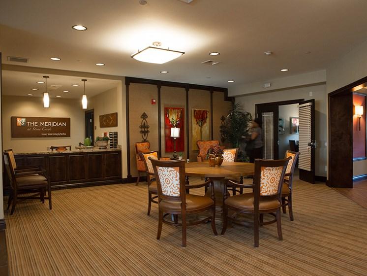Reception Area at Meridian at Stone Creek, Milton, WA
