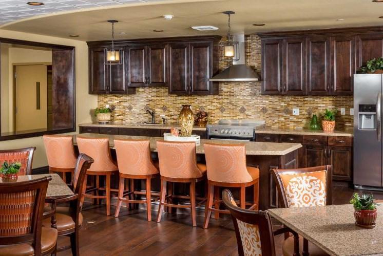 Memory Care Breakfast Bar Dining Room at Meridian at Stone Creek, Milton, 98003