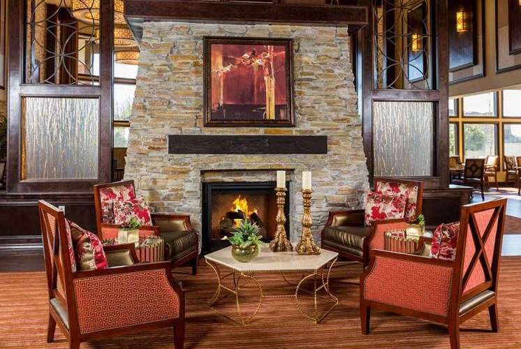 Sitting by the Fire at Meridian at Stone Creek, Milton, Washington