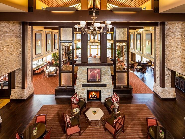 Hardwood Floors Lounge Area at Meridian at Stone Creek, Milton, WA