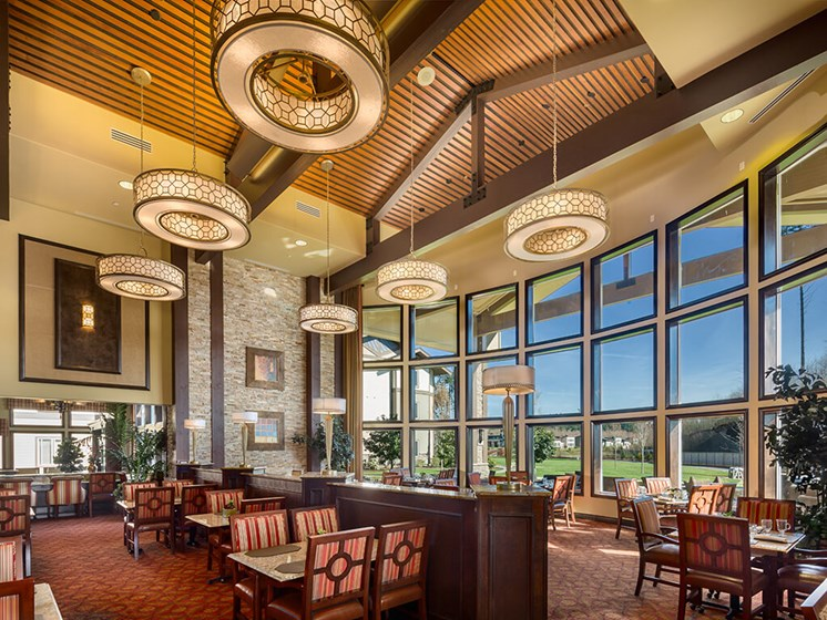 Decorated Dining Area at Meridian at Stone Creek, Washington