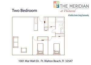 Double 2 Bedroom Floor Plan at Meridian at Westwood, Ft. Walton Beach, FL