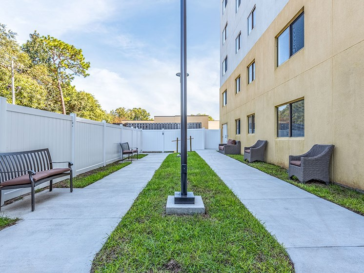 Spacious, Landscaped Patio and Private Courtyard at Meridian at Westwood, Fort Walton Beach, FL, 32547