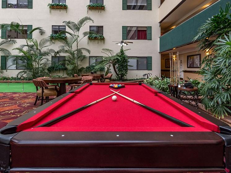 Billiards Table at Meridian at Westwood, Fort Walton Beach, Florida