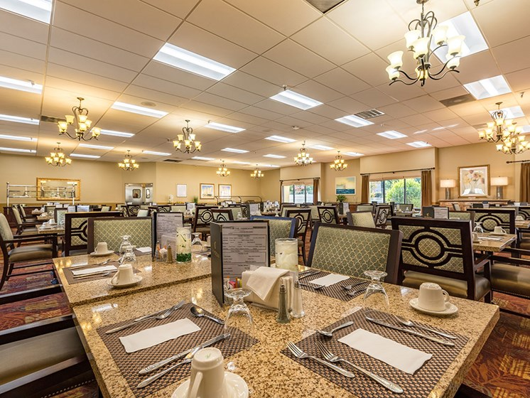 Restaurant Style Dining Room at Meridian at Westwood, Florida, 32547