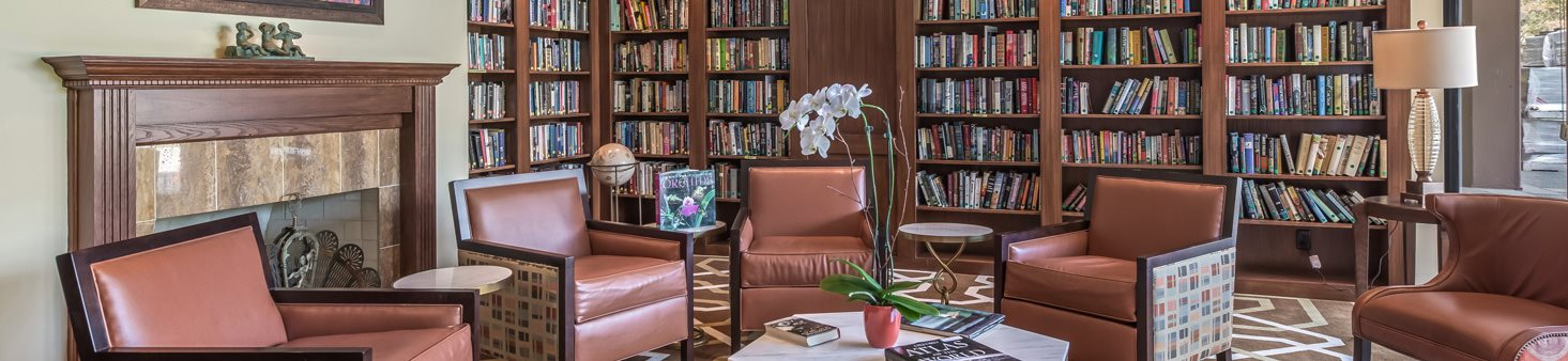 Library with cozy nooks at The Park Lane, California