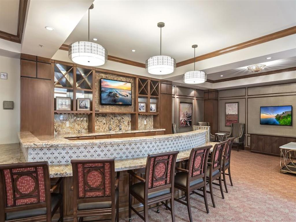 Beautiful clubhouse at apartments in Monterey, California