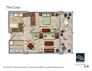 The Cove Floor Plan at The Park Lane, Monterey, California